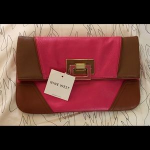 NINE WEST Foldover Clutch Handbag